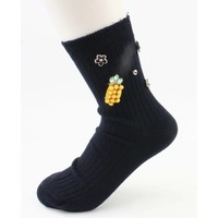"Socks "" Pineapple "" blue"