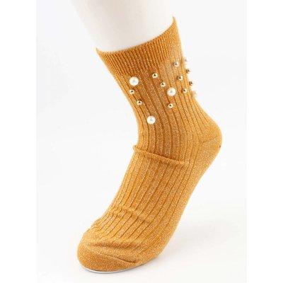 """Socks """"Sporty Pearl"""" ochre per 2 pairs"""