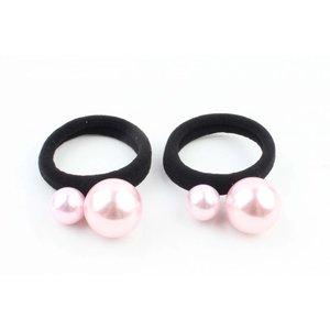 """Haarelastiek """"Balletjes"""" roze per 2 st."""