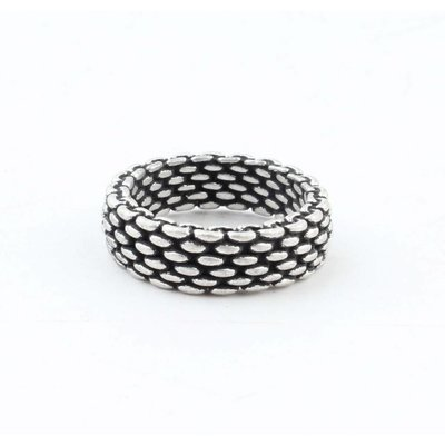 "Metalen ring ""Lya"" oud zilver"
