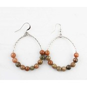 "Earring ""Natural Stone"" Jasper"