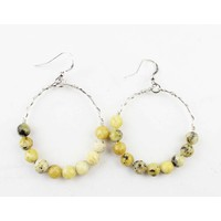 "Earring ""Natural stone"" yellow tigereye"