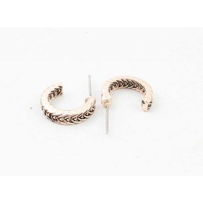 "Metal earring "" Ayliz "" rosé"