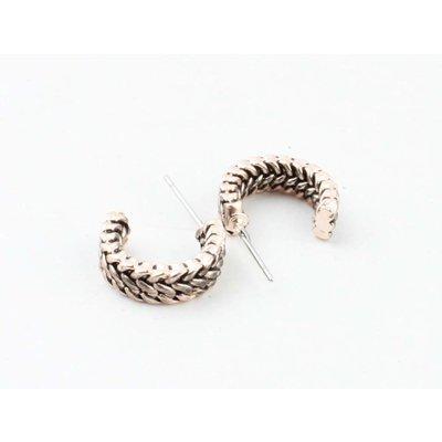 "Metal earring "" Caya "" rosé"