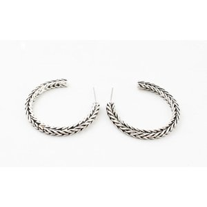 """Metal earring """" Noé """" old silver"""