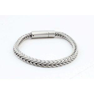 """Armband """"Noé"""" mat zilver"""