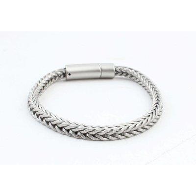 """Bracelet """" Noé """" matte silver"""
