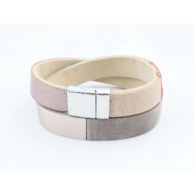 """Wrap bracelet leather """" Nella """" multi color"""