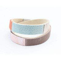 "Wrap bracelet leather "" Nella "" multi color"