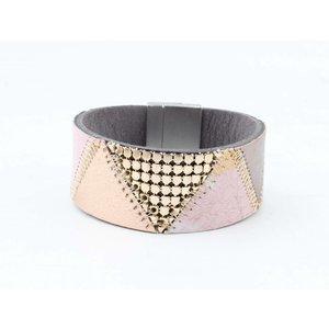 """Armband leer """"Niva"""" roze"""