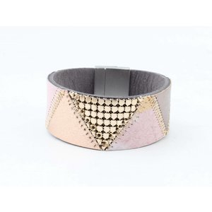 "Bracelet leather "" Niva "" pink"