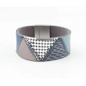"Armband Leder ""Niva"" blau"