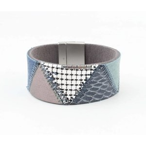 "Bracelet leather "" Niva "" blue"