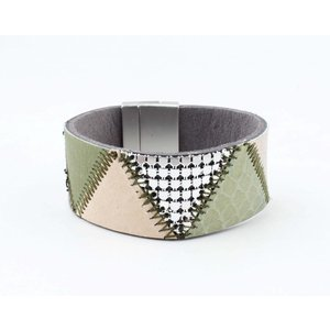 "Bracelet leather "" Niva "" olive green"