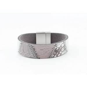 "Bracelet leather "" Kamila "" grey"