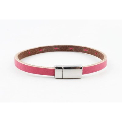 "Armband leer ""Aster""  roze"