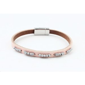 "Bracelet leather "" Aster "" light pink"