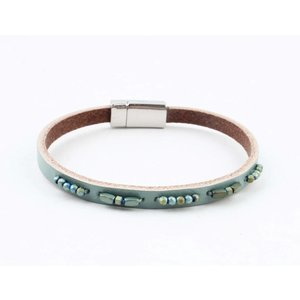 "Bracelet leather "" Aster "" turquoise"