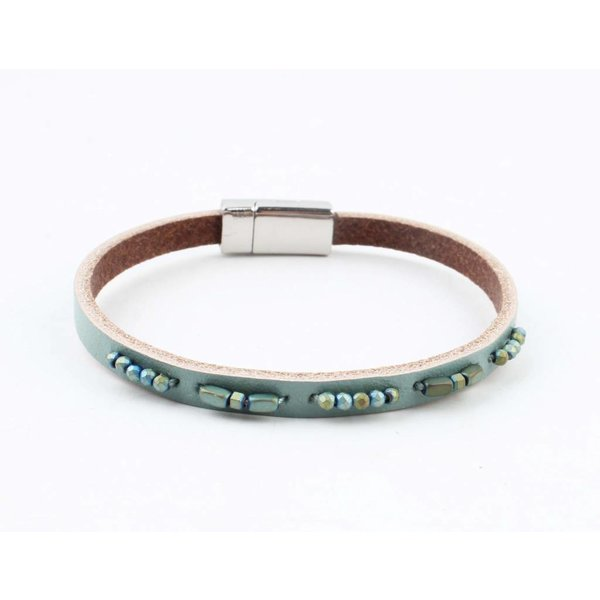 """Bracelet leather """" Aster """" turquoise"""