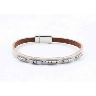 "Bracelet leather "" Aster "" grey"
