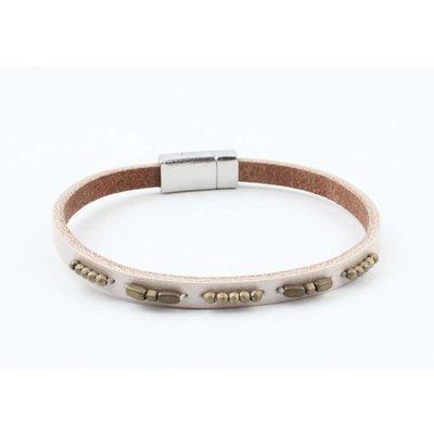 """Bracelet leather """" Aster """" beige"""