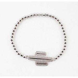 """Bracelet """" Valery """" shiny silver"""