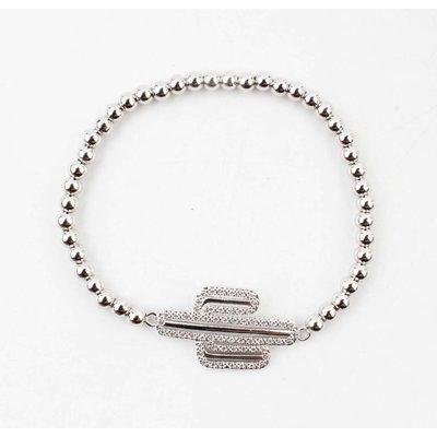 """Armband """"Valery"""" glanzend zilver"""