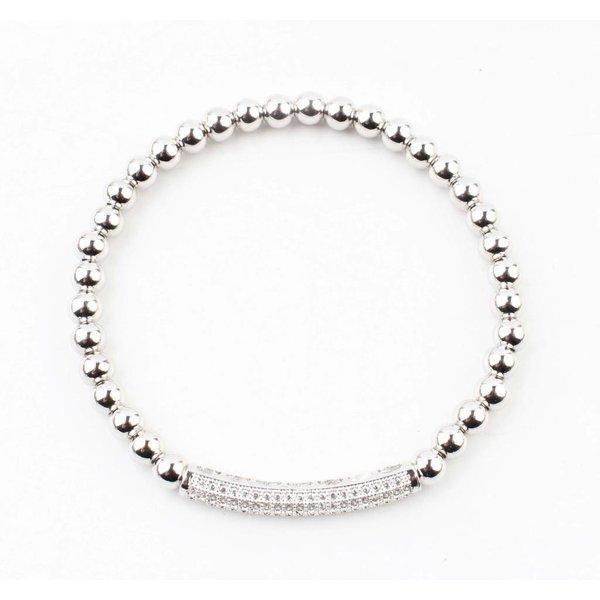 "Armband ""Sally"" glanzend zilver"