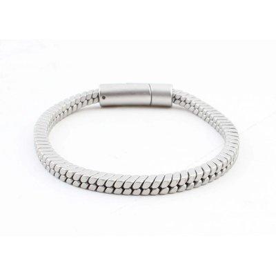 """Armband """"Lora"""" matt silber"""