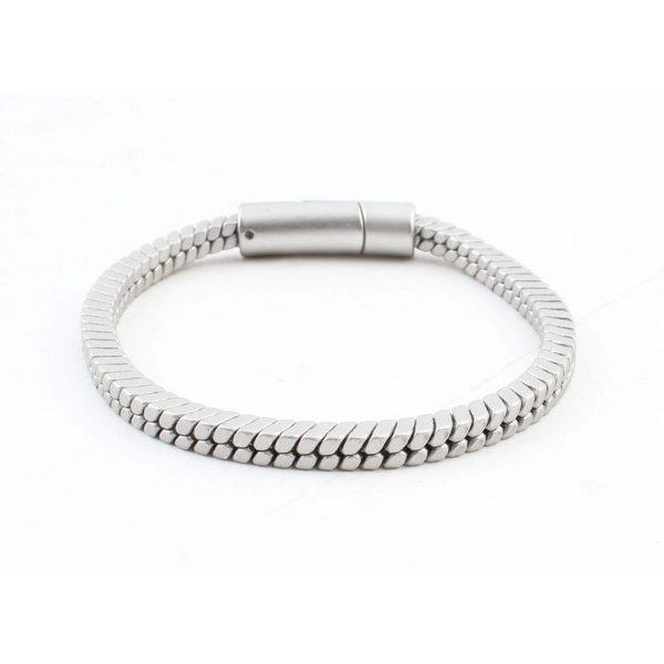 """Armband """"Lora"""" mat zilver"""