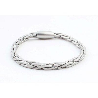 """Armband """"Salena"""" mat zilver"""