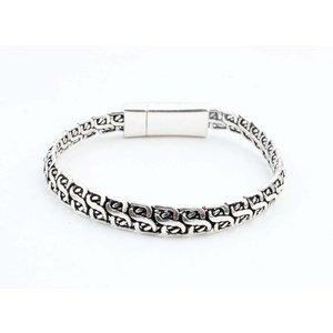 """Bracelet """" Lina """" shiny silver"""