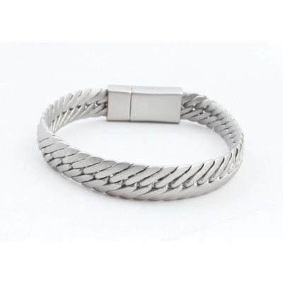 """Armband """"Busra"""" mat zilver"""