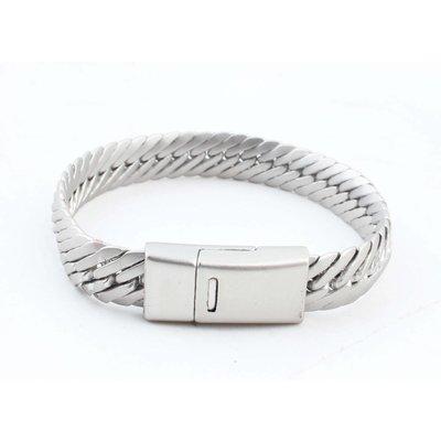 """Bracelet """"Koya"""" matte silver"""