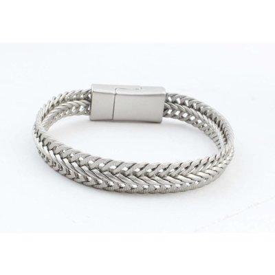 """Armband """"Nisa"""" matt silber"""