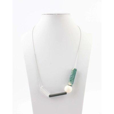 """Halskette """"Moderne Kunst"""" türkis"""