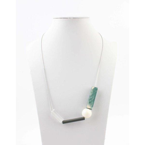 """Halsketting """"Moderne kunst"""" turquoise"""