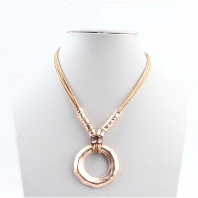 """Lange Halskette """"rosan"""" rosé"""