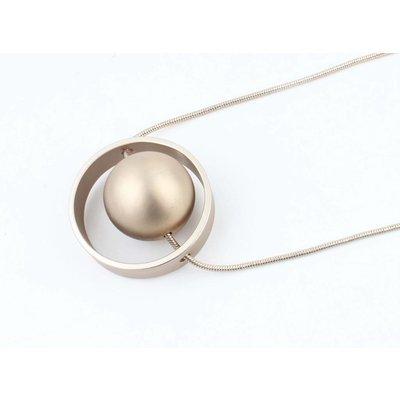 """Lange Halskette """"Erde"""" gold"""