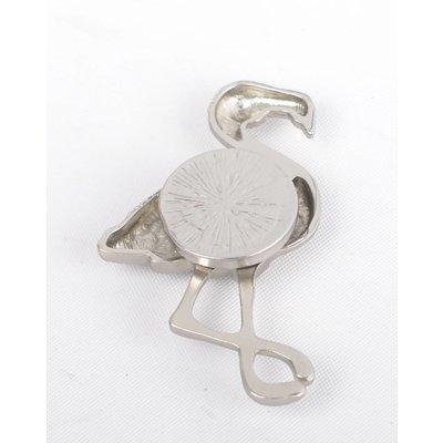 """Magneet """"Flamingo"""" zilver"""