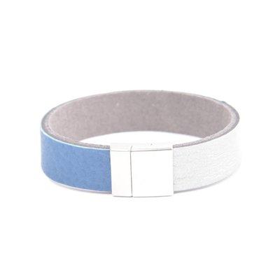"Armband leer ""Kamila"" blauw"