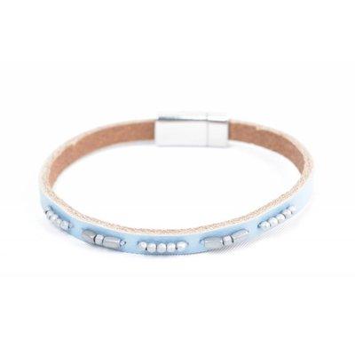 """Bracelet leather """" Aster """" blue"""