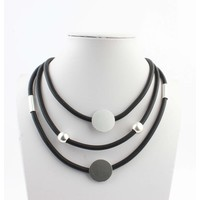 "Necklace ""José"" black/silver"