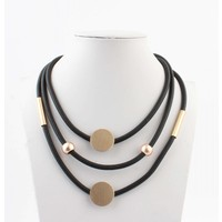 "Necklace ""José"" black/pink"