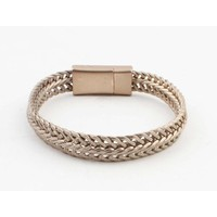 "Bracelet ""Nisa"" mat gold"