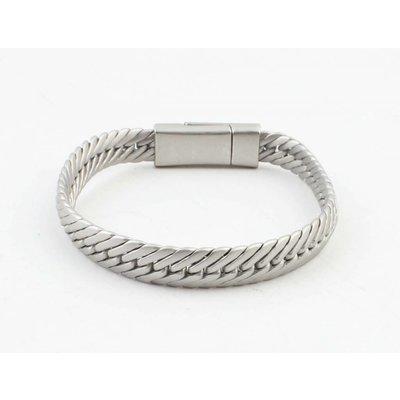"""Armband """"Gaia"""" mat zilver"""
