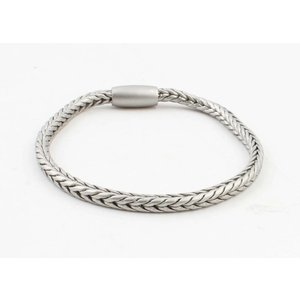 """Armband """"Uma"""" mat zilver"""
