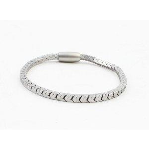 """Armband """"Irina"""" matt silber"""