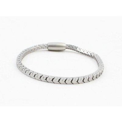 """Armband """"Irina"""" mat zilver"""