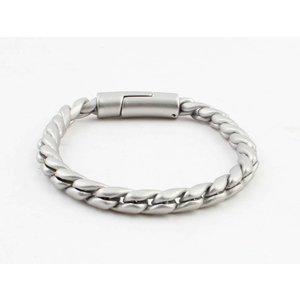 "Bracelet ""Noor"" matte silver"